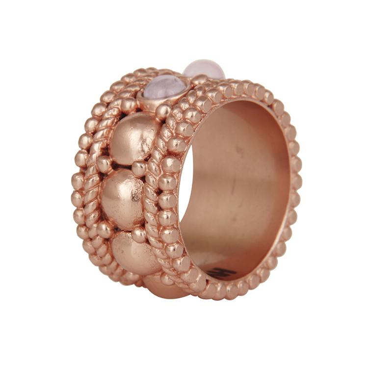 Naima Rose gold ring by AARYAH on www.modagrid.com