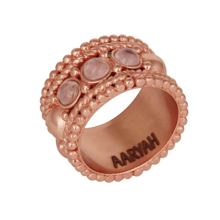 Naima Rose gold ring by AARYAH on www.modagrid.com