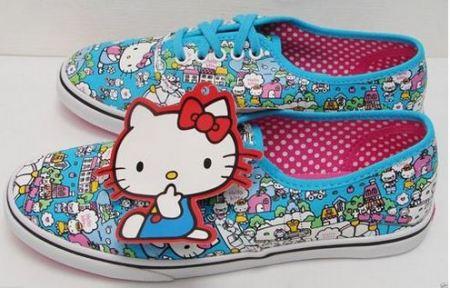 zapatillas vans hello kitty azules