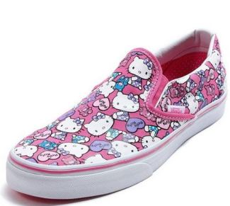 zapatillas vans hello kitty sin cordones
