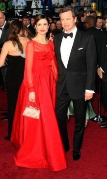 oscars 2012 Livia Giuggioli And Colin Firth