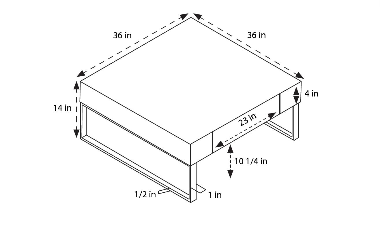 Gavino Modern Coffee Table White Furniture