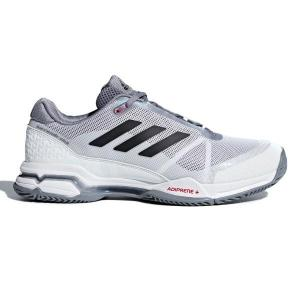 Adidas Barricade Club – Mens Tennis Shoes – White/Black/Grey