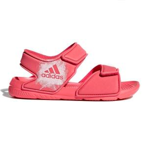 Adidas AltaSwim C – Kids Girls Sandals – Coral Pink/Footwear White