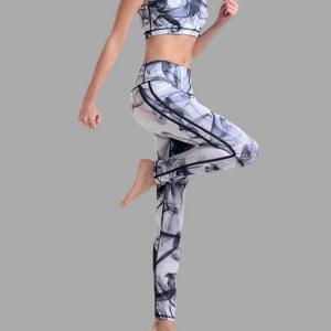 Active Random Printed Middle-waisted Tracksuit