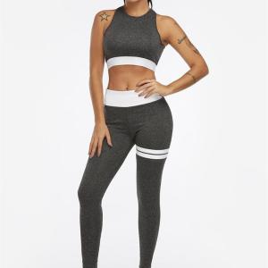 Active Backless High Waisted Tracksuit in Dark Grey