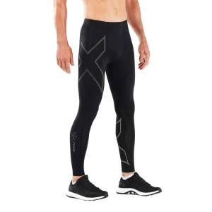 2XU MCS Run Mens Compression Tights With Back Storage – Black/Black Reflective