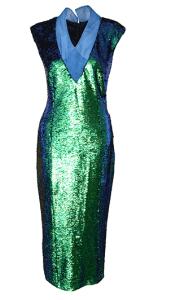 Grünes Abendkleid