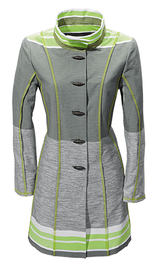Grau und Grünes Kleid