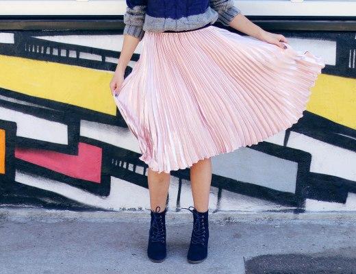 Alena Gidenko for modaprints.com styling pink metallic for fall!