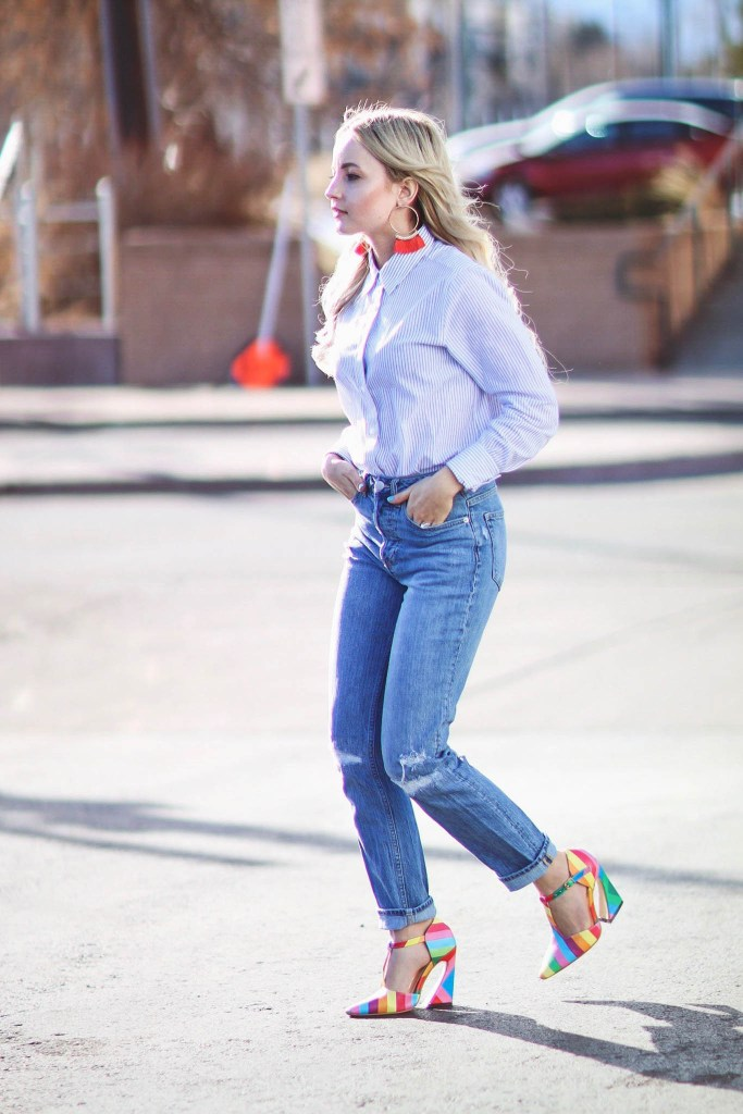 Alena Gidenko of modaprints.com shares her favorite button up top