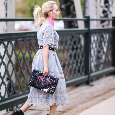 HOW TO LOOK CHIC IN A LACY DRESS