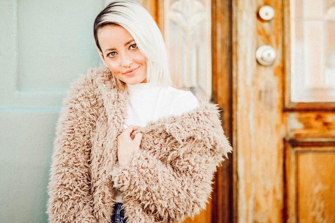 Alena Gidenko of modaprints.com shares her top five faux fur teddy coats for Winter