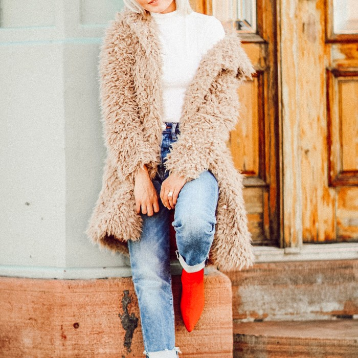 Alena Gidenko of modaprints.com shares her top five faux fur teddy coats for Winter