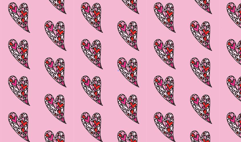 Modarium afbeelding van het meest eenvoudige half verzet met harten illustratie
