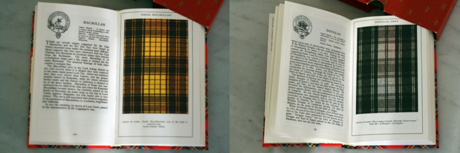 "Modarium afbeelding van ""The clans and tartans of Scotland"" door ""Robert Bain"" geel en grijs"