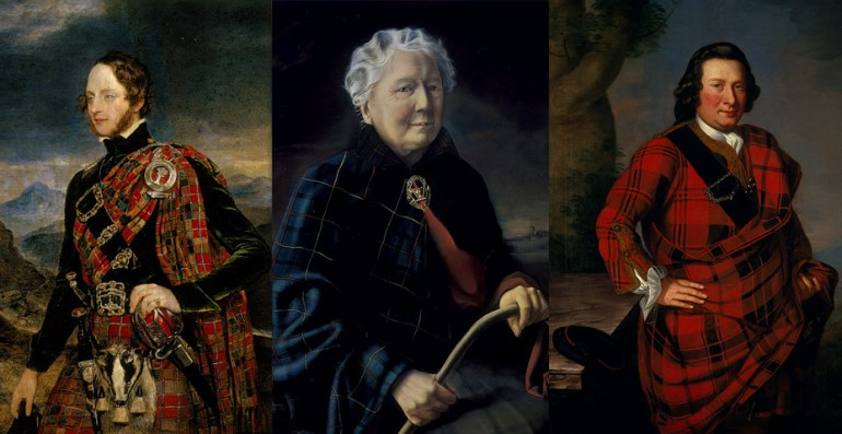 "Modarium beeldcollage ""Blazing with Crimson: Tartan Portraits"""