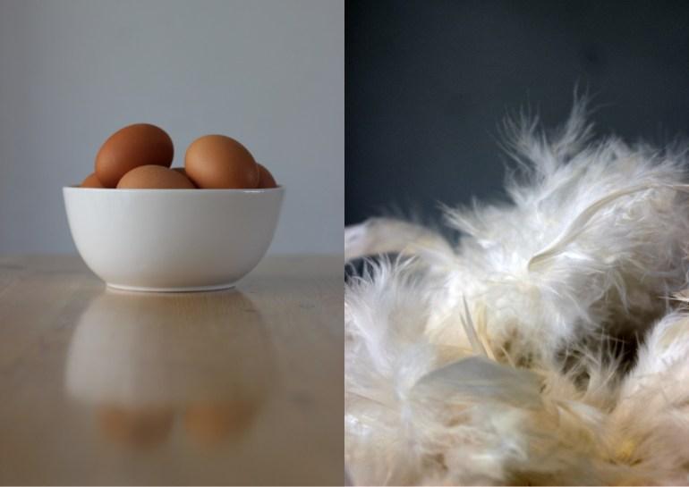 MODARIUM Vier het leven of pasen moodboard 01met eieren en veren