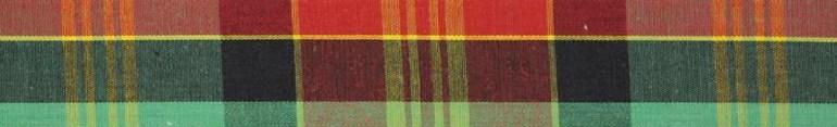 Modarium beeld van een Madras ruit in Groen, rood en geel
