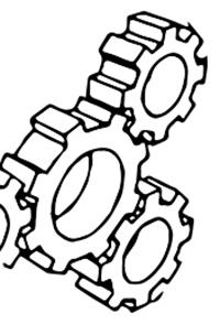 Modarium illustratie van tandwielen uitgelicht bij toekomstscenario technologie