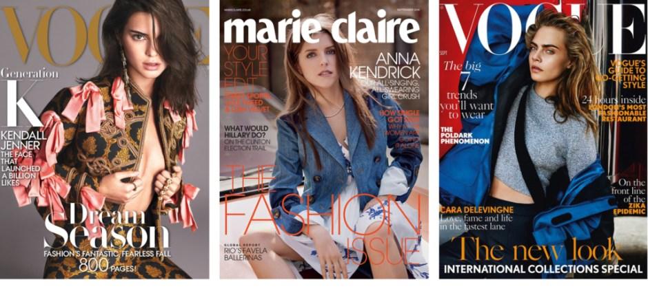 Modarium beelden mode-cyclus covers september issues 2016