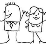 Modarium illustratie van mensen uitgelicht bij toekomstscenario sociaal