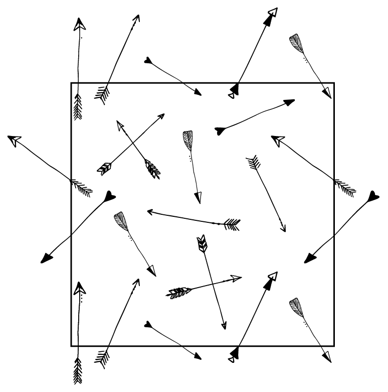 MODARIUM onregelmatig strooimotief pijlen opgevuld vlak