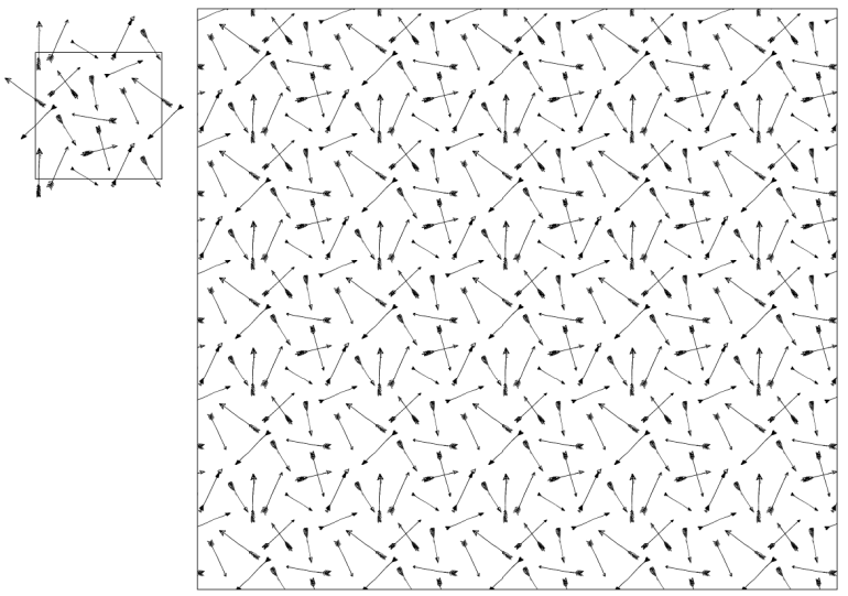 MODARIUM onregelmatig strooimotief pijlen toegepast