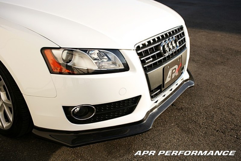 APR Performance Carbon Fiber Front Air Dam Installed Front View Audi A5 FA-505502