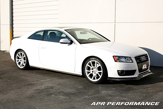 APR Performance Carbon Fiber Front Air Dam Installed Audi A5 FA-505502