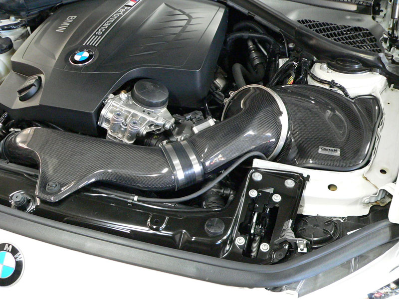 Gruppe M Carbon Fiber Intake System BMW Installed