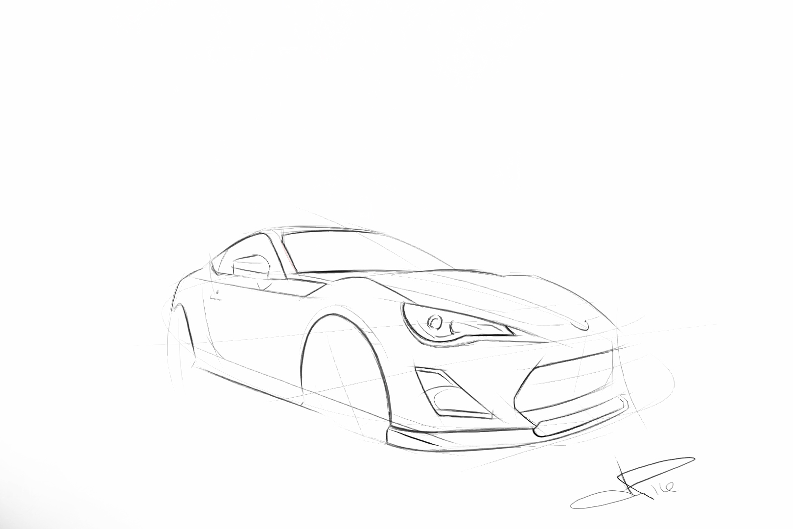 Handmade Digital Sketches Of Your Car By Pelloni Design