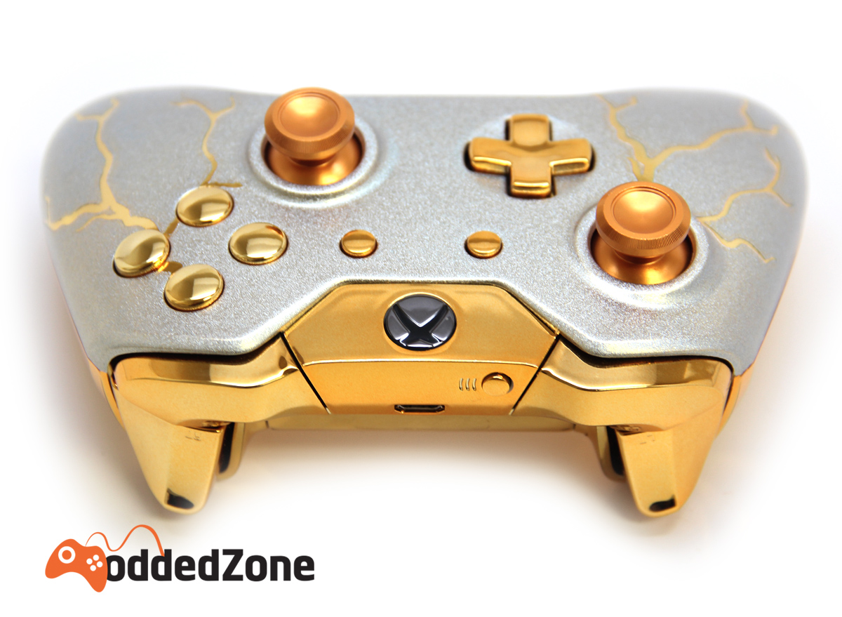 GOLD THUNDER XBOX ONE MODDED CONTROLLER