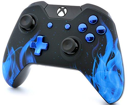 BLUE FIRE Xbox One Custom Modded Controller