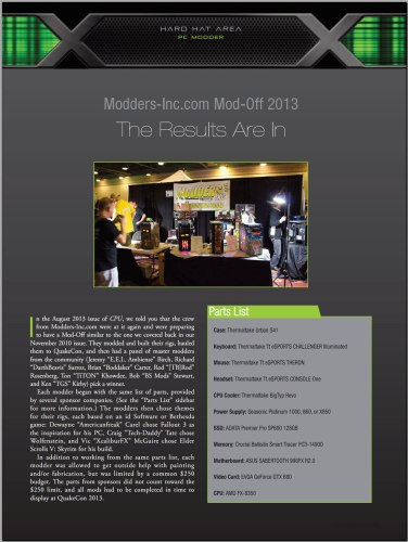 CPU Mag -- Modders-Inc Mod-Off-2013