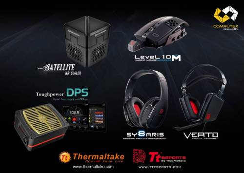 Thermaltake wins its 7th COMPUTEX d&i Awards 2014!