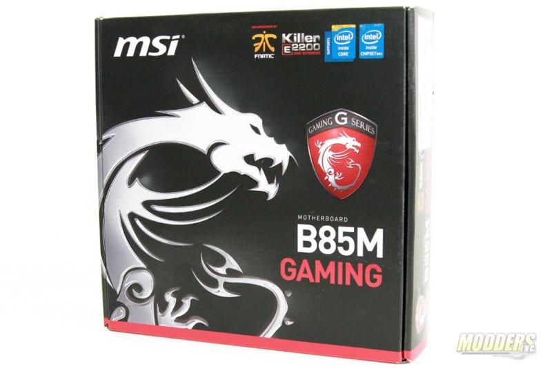MSI B85M Gaming Motherboard Box