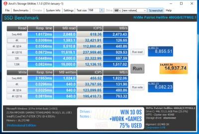 Win10 OS+Work+Games 75% full - 0-Fill