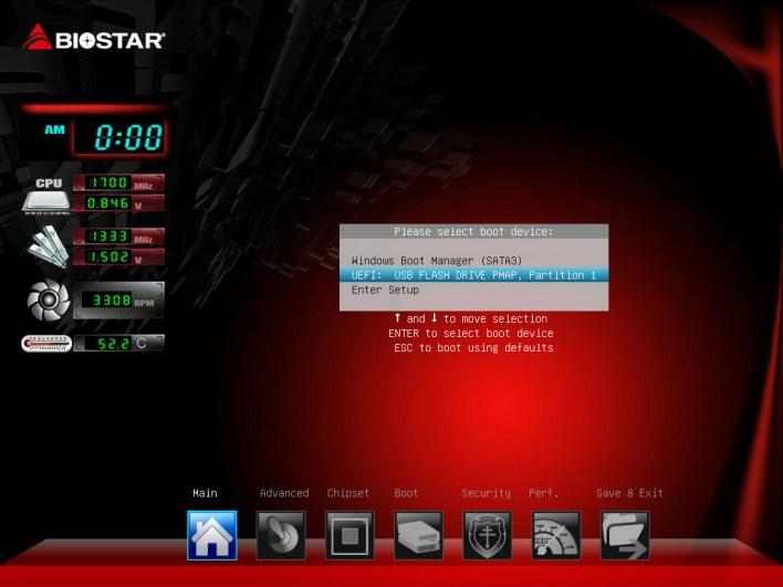 BIOSTAR BIOS Screen