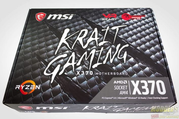 MSI X370 Krait Gaming AM4 Motherboard Packaging