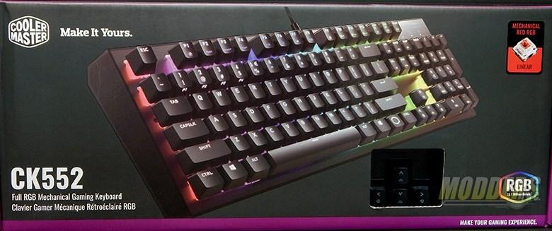 Cooler Master CK552 Full RGB Mechanical Gaming Keyboard