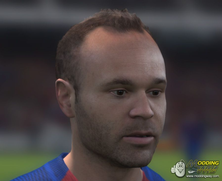 Andres Iniesta Face 17 To 14 Conversion FIFA 14