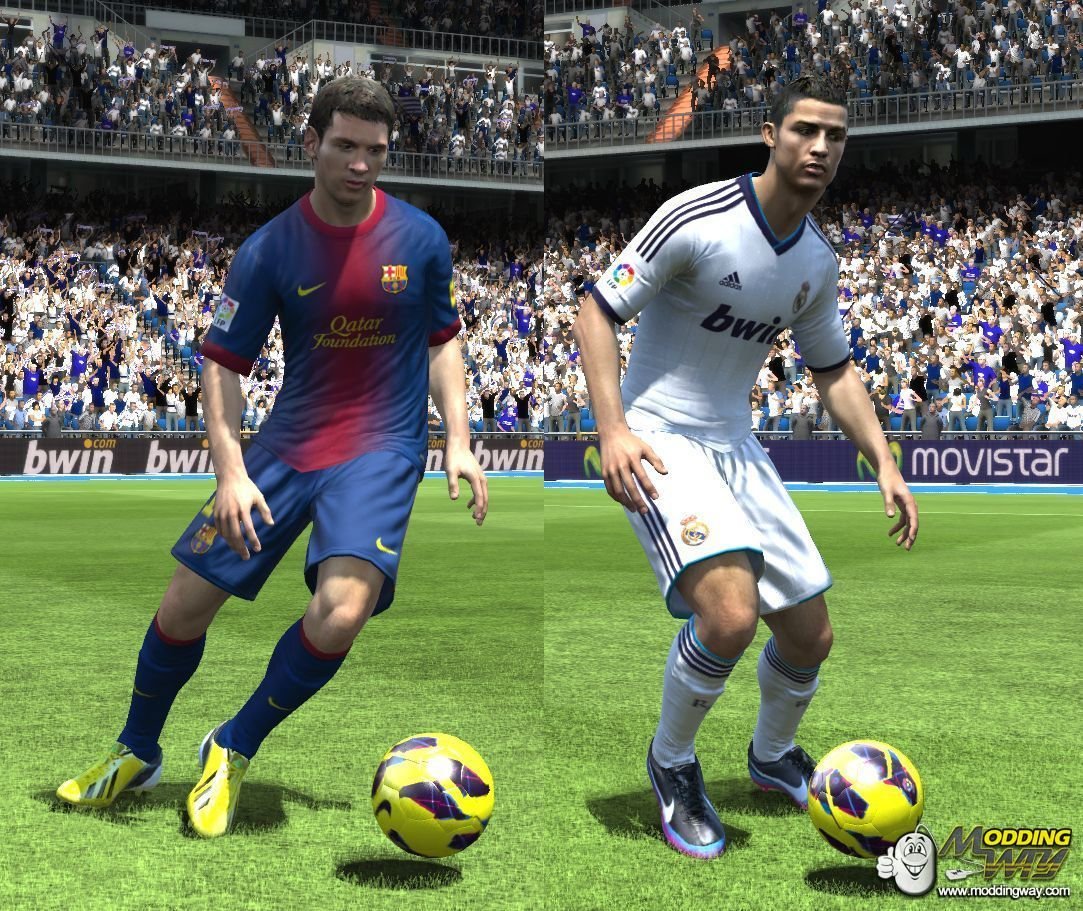 PES 2013 MESSI Amp CR7 FIFA 13 Start Screen By Fikri Tadorante Pro Evolution Soccer 2013