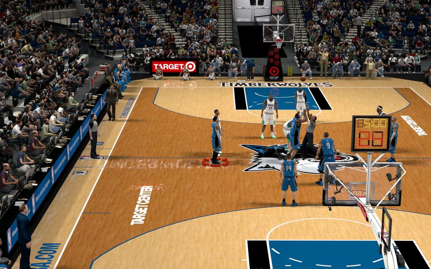 Minnesota Timberwolves Arena Update NBA 2K10