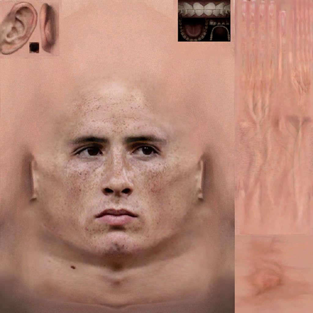 Torres Face New Texture 1024x1024 Pro Evolution Soccer 2010