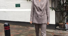 Happy suit-girl