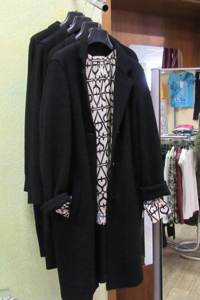 Wollcoat und Bluse von oui