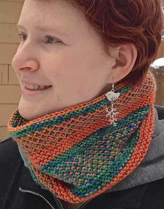 The Slippy Cowl, pictured here in ModeLuxe. Colors are Chabazite and Gilmarite.