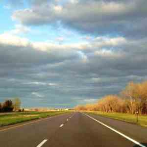 The road home through Nebraska.
