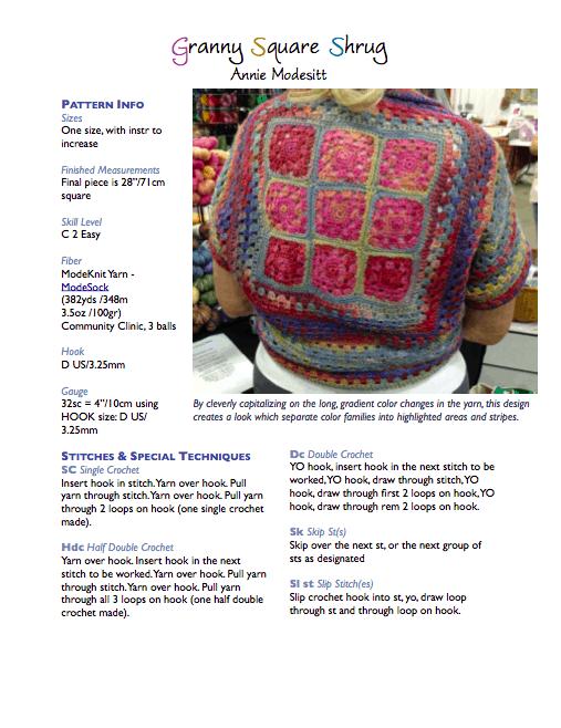 Granny Square Shrug Pattern Modeknit Yarn
